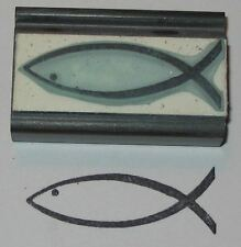 Jesus Fish rubber stamp by Amazing Arts