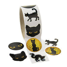 300 Halloween Black Cat Prism Stickers Haunted House FUN PARTY Favor Decoration