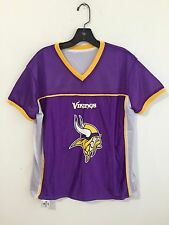 BDA NFL Minnesota Vikings Football Jersey Purple/White w/Yellow Size M
