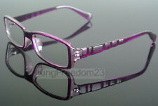 Women Fashion Eyeglass Frame Transparent Purple Eyewear Spectacles Glasses