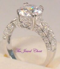 3.75 Ct Round Solitaire Vintage D/VVS1 Diamond Estate Engagement Ring White Gold