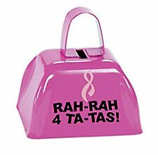 24 Pink Ribbon Breast Cancer Awareness COW BELLS fundraiser Party supplies