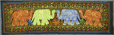 Long Sequinned & Embroidered Elephant Indian Aari Stitch Wall Hanging Black (7)
