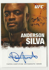 Anderson Silva 2010 Topps UFC Round 4 Certified Auto Autograph Card MMA FA-AS