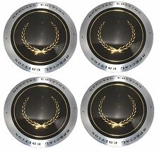 1988-1995 CADILLAC Wheel Hub Center Caps Hubcap SET NEW Black with Gold Wreath