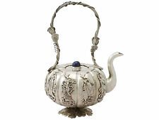 Iraqi Silver Miniature Teapot - Antique Circa 1920