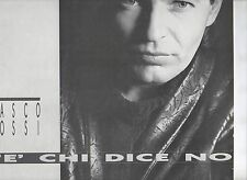 VASCO ROSSI disco LP 33 giri C'E' CHI DICE NO MADE in GREECE 1987 stampa GRECA