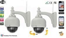 Lot  2 Dôme IP caméra extérieure surveillance wifi IR vision de nuit Sans fils