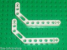 LEGO TECHNIC white technic beam liftarm bent 32009 / 8289 8297 65081 8009 9748
