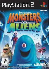 MONSTERS VS ALIENS for Playstation 2 PS2 - with box & manual - PAL