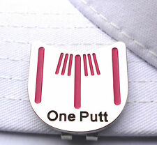 One Putt Golf Putting Alignment Tool Ball Marker with Hat Clip- Hot Pink
