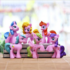 6pcs My Little Pony Friendship Is Magic Pink Rarity Figure Toy Loose New *