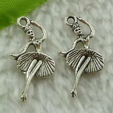 free ship 130 pcs tibet silver dancer charms 25x14mm #3285