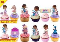 56 DOC MCSTUFFINS Birthday Cup Cake Fairy Edible Wafer Rice Toppers STAND UP