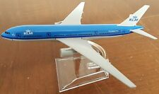 16cm KLM Boeing 777 Metal Desk Display Aircraft Plane Model Royal Dutch Airlines