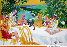 LeRoy Neiman WINE ALFRESCO Hand signed Lithograph ART