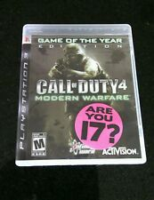 Call of Duty 4 Modern Warfare Game of the Year Edition 2007 Sony PlayStation 3