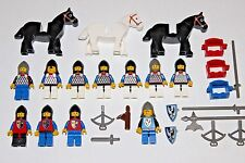 Vintage Lego Minifigures - Classic Castle Knights Lot + Horses + Weapons