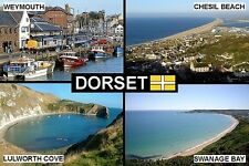 SOUVENIR FRIDGE MAGNET of DORSET ENGLAND WEYMOUTH SWANAGE LULWORTH
