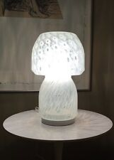 "MURANO Italian Style Mushroom  12"" Art Glass Table Lamp 90's"