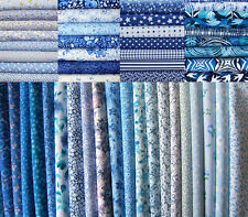 22 Fat Quarters Bundle Blue Shades - 100% Cotton