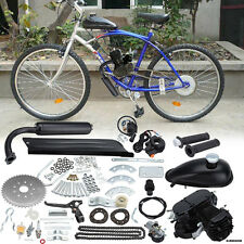 50cc Bike 2 Stroke Gas Engine Motor Kit DIY Motorized Bicycle Black