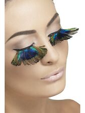 Adult Womens Fever Peacock Feather Eyelashes Smiffys Fancy Dress Costumes