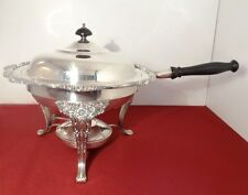 1847 Rogers Bros HERITAGE Silver Plated Chafing Serving Dish w/Burner Stand