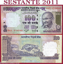 INDIA -  100 RUPEES  2005   Lettera R  Sign. 89   - P 98a    -   SPL+ / XF+