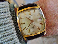 CAUNY SQUARE (already rare medium case) Vintage Swiss watch