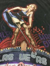 Harley Davidson Las Vegas Nevada T Shirt Pin Up Girl on Marquee lights Size M