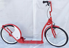 """Adult Kick Scooter Kick Bike 20"""" Wheels Red with White"""