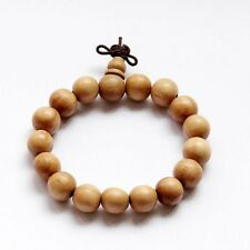 Tibetan Buddhist Peach Wood Beads Prayer Bracelet Mala