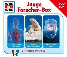 WAS IST WAS - 3-CD HÖRSPIELBOX VOL.4: JUNGE FORSCHER 3 CD NEU
