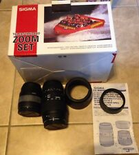 Sigma Tele & Standard Zoom Lens Set 28-80mm Macro / 70-300mm Macro Super in box