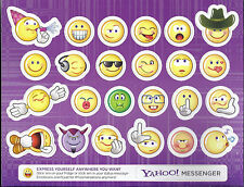 Yahoo Messenger Emotion icon frige refrigerator magnets (One sheet with 24)