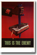 This is the Enemy - Vintage Nazi WW2 Art Print   POSTER