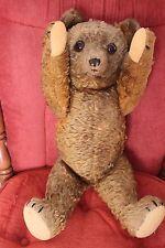 "Antique Mohair Teddy Bear Plush Disc Jointed w Growler Schuco Gebruder Bing? 24"""