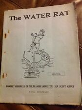 Vintage Sea Scout Monthly Magazine Publication The Water Rat Dec 1934 Original