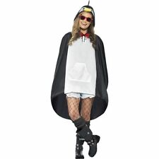 Unisex Womens Mens Penguin Party Poncho Festival Animal Waterproof Fancy Dress