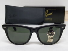 New Vintage B&L Ray Ban Wayfarer II L1724 Ebony Black G-15 54mm Sunglasses USA