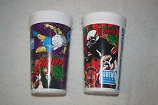 2 SOUVENIR CUPS * Arrowhead Pond 1996 & 1997 * Piranhas Splash Bullfrogs Jet Jam