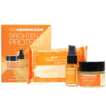 OLE HENRIKSEN BRIGHTEN GIFT SET HERBAL DAY CREAM TRUTH SERUM CLOTHS DAMAGED BOX