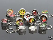 12pcs Portable KEY CHAIN 2 PART Manual Herb Spice Grinder Tobacco Grinders #153