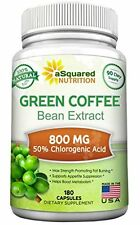 Green Coffee Bean Extract - 180 Caps for Weight Loss by aSquared Nutrition