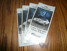 1981 Oldsmobile Cutlass Toronado  Color Chip & Fabric Folder 4 for 1 Price