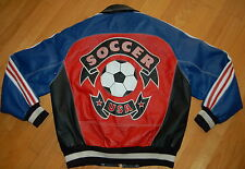 Vintage MICHAEL HOBAN WHERE M I USA Soccer ROCKABILLY Jacket Size L