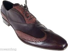 FABI BROWN LEATHER WING TIP LACED MENS OXFORDS SHOES BRAND NEW EU SIZE 46