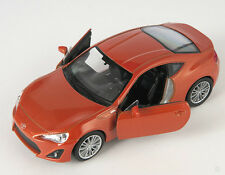 BLITZ VERSAND Toyota 86 orange mett. Welly Modell Auto 1:34-39 NEU & OVP