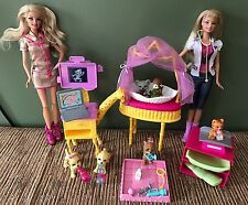 "Barbie ""I CAN BE A ZOO DOCTOR"" Huge Lot Veterinarian Playset Dolls, Animals, Acc"